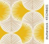 vector seamless tropical plants ... | Shutterstock .eps vector #451248601