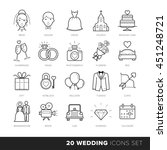 all kinds of wedding marriage... | Shutterstock .eps vector #451248721