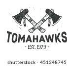 american indian emblem  label ... | Shutterstock .eps vector #451248745