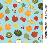 seamless fruit pattern... | Shutterstock .eps vector #451249309