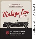 vintage  classic car show label ... | Shutterstock .eps vector #451249651