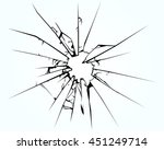 broken window pane or glass... | Shutterstock .eps vector #451249714
