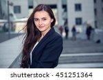 portrait of business woman on... | Shutterstock . vector #451251364