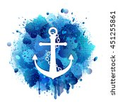 anchor icon with chain | Shutterstock .eps vector #451255861