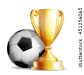 gold cup with a football ball | Shutterstock .eps vector #451256065