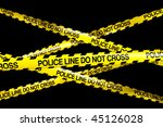 3d Rendering Of Caution Tape...