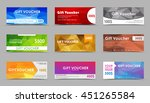 set of gift vouchers. templates ... | Shutterstock .eps vector #451265584