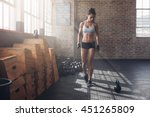 full length shot of young woman ... | Shutterstock . vector #451265809
