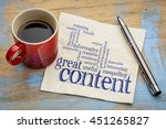 great content writing word... | Shutterstock . vector #451265827