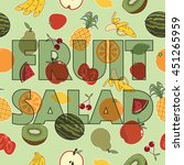 seamless fruit pattern... | Shutterstock .eps vector #451265959