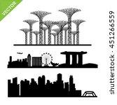 singapore city landmark...   Shutterstock .eps vector #451266559