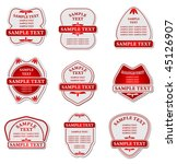 vector version. set of labels... | Shutterstock .eps vector #45126907
