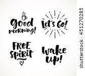 vector set of lettering phrase. ... | Shutterstock .eps vector #451270285