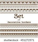 set of seamless borders. vector ... | Shutterstock .eps vector #451272571