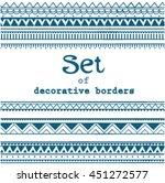 set of seamless borders. vector ... | Shutterstock .eps vector #451272577