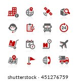 shipping and tracking icons | Shutterstock .eps vector #451276759