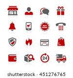 e shopping icons | Shutterstock .eps vector #451276765