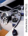 steering wheel on a luxury...   Shutterstock . vector #451279111