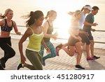 portrait of healthy young men... | Shutterstock . vector #451280917