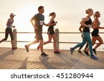 group of young people competing ... | Shutterstock . vector #451280944