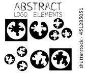abstract logotype. abstract... | Shutterstock .eps vector #451285051