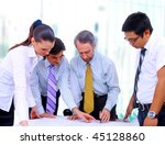 business men and women working... | Shutterstock . vector #45128860