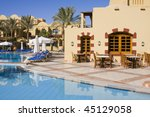 swimming pool on a sunny day.... | Shutterstock . vector #45129058