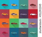 set of color cars | Shutterstock .eps vector #451292245