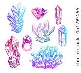 beautiful hand drawn vector... | Shutterstock .eps vector #451292599