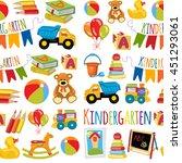 kindergarten play and study... | Shutterstock .eps vector #451293061