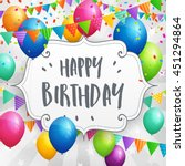 birthday greeting card with...   Shutterstock .eps vector #451294864