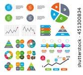 data pie chart and graphs....   Shutterstock .eps vector #451300834