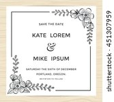 save the date  wedding... | Shutterstock .eps vector #451307959