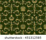 royal crown seamless pattern... | Shutterstock .eps vector #451312585