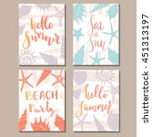 set of vector card templates... | Shutterstock .eps vector #451313197