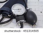 aneroid sphygmomanometer dial...   Shutterstock . vector #451314505
