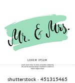 mr and mrs invitation card.... | Shutterstock .eps vector #451315465