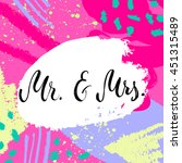 mr and mrs invitation card.... | Shutterstock .eps vector #451315489