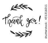thank you card  thanks. vector... | Shutterstock .eps vector #451316011