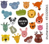animal head collection   vector ... | Shutterstock .eps vector #451320061