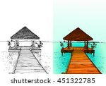 travel to the maldives  jetty ...   Shutterstock .eps vector #451322785