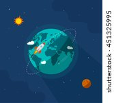 earth in space vector... | Shutterstock .eps vector #451325995