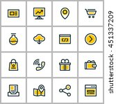 thin line business icon set.... | Shutterstock .eps vector #451337209