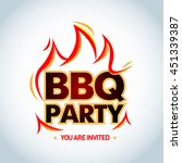 bbq party logotype template... | Shutterstock .eps vector #451339387