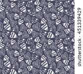 seamless pattern with doodle... | Shutterstock .eps vector #451339429
