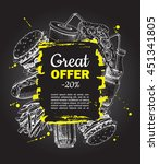fast food special offer on... | Shutterstock . vector #451341805