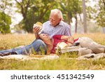 old people  senior couple ... | Shutterstock . vector #451342549