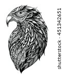 patterned head of eagle  black... | Shutterstock .eps vector #451342651