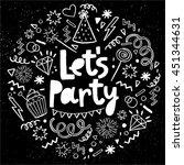 Hand Drawn  Doodle  Party Set....