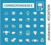 correspondence icons | Shutterstock .eps vector #451347634